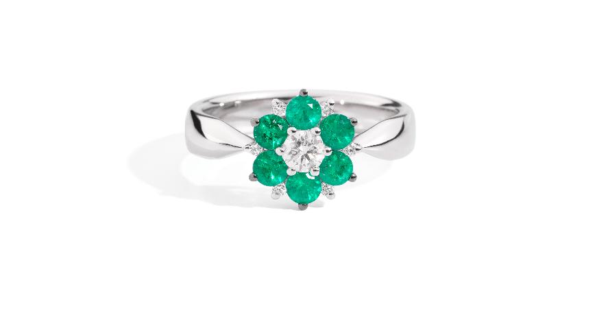 Collezione Ortensia con smeraldi
