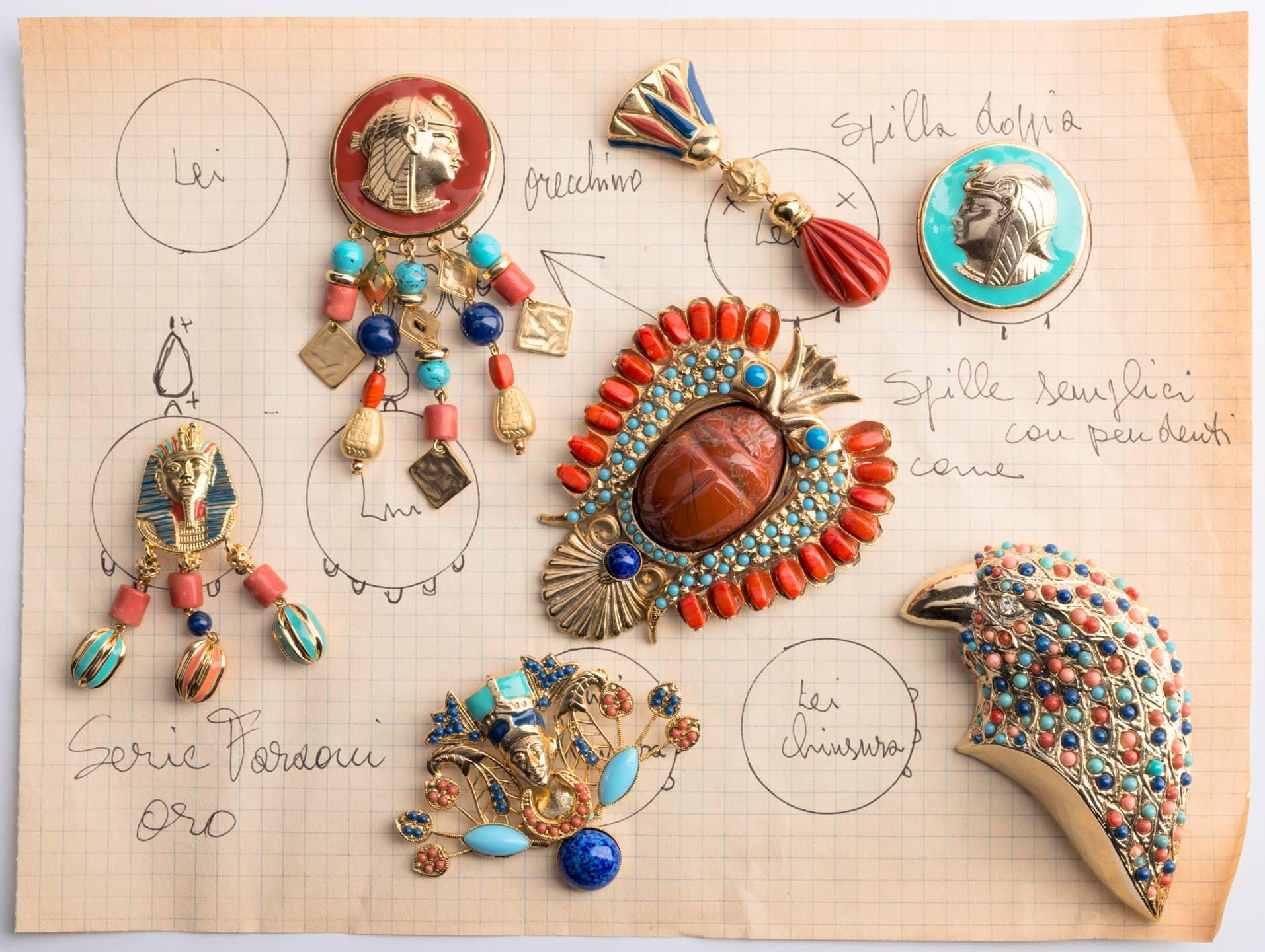 bigiottieri carlo zini, bottetto disegni e bijoux, 1980, foto francesco di bona